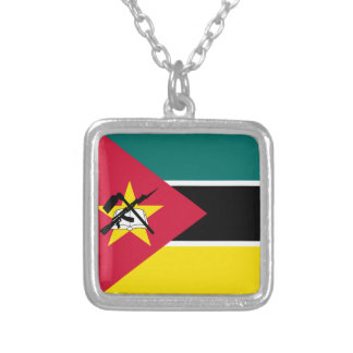 Mozambique Flag Silver Plated Necklace