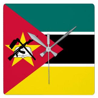 Mozambique Flag Square Wall Clock