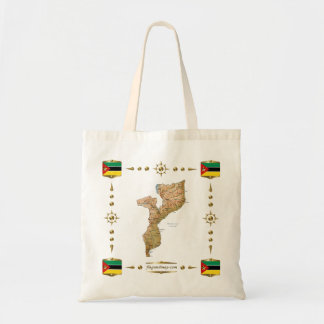 Mozambique Map + Flags Bag