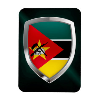 Mozambique Metallic Emblem Magnet
