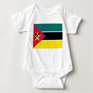 Mozambique National World Flag Baby Bodysuit