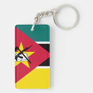 Mozambique National World Flag Keychain