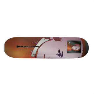 Mozart and Clarinet Skateboard