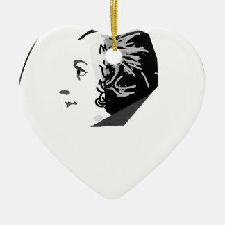 mozart ceramic heart ornament