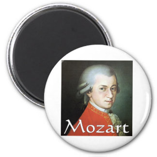 Mozart gifts for music lovers 2 inch round magnet