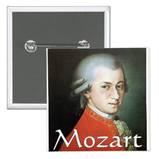 Mozart gifts for music lovers 2 inch square button