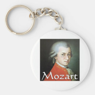 Mozart gifts for music lovers basic round button keychain
