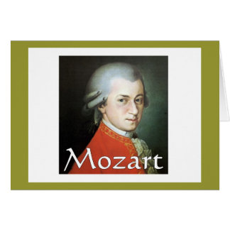 Mozart gifts for music lovers greeting card