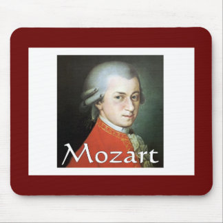 Mozart gifts for music lovers mouse pad