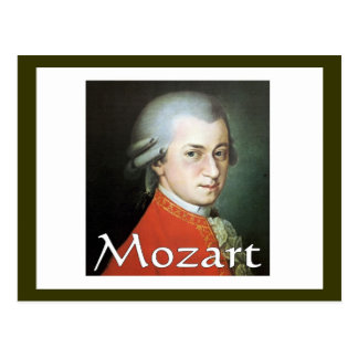 Mozart gifts for music lovers postcards