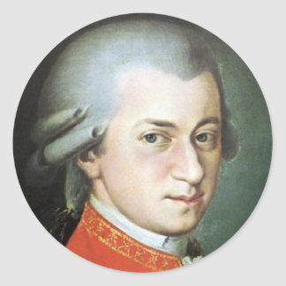 Mozart gifts for music lovers round sticker