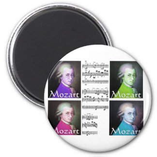 Mozart Lovers Gifts 2 Inch Round Magnet
