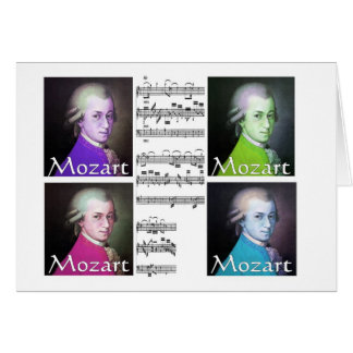 Mozart Lovers Gifts Greeting Card