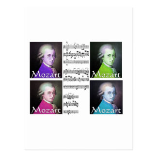 Mozart Lovers Gifts Postcard