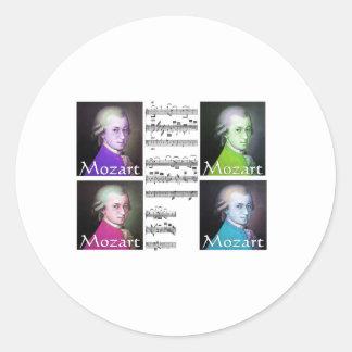 Mozart Lovers Gifts Round Sticker