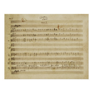 Mozart Marriage of Figaro Manuscript Print