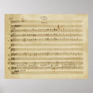 Mozart Marriage of Figaro Manuscript Print