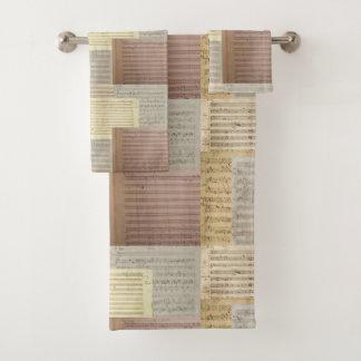 Mozart Music Manuscript Medley Bath Towel Set