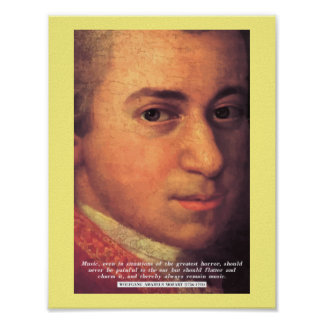 Mozart 'Music' quote poster