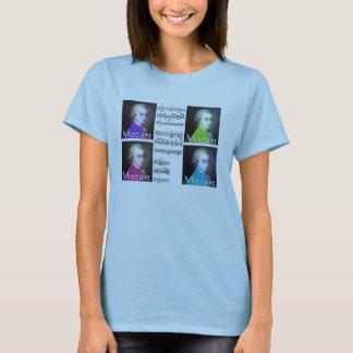 mozart pop art ladies t-shirt