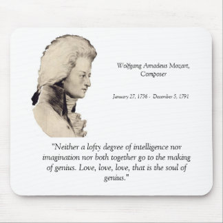 Mozart quote mouse pad