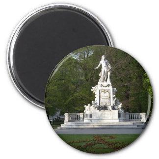 Mozart Statue Magnet
