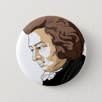 Mozart (Wolfgang Amadeus Mozart) 2 Inch Round Button