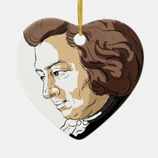 Mozart (Wolfgang Amadeus Mozart) Ceramic Heart Ornament