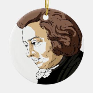 Mozart (Wolfgang Amadeus Mozart) Round Ceramic Ornament