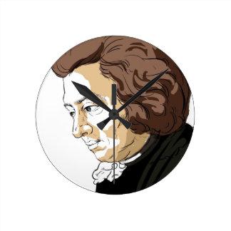 Mozart (Wolfgang Amadeus Mozart) Round Clock
