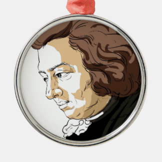 Mozart (Wolfgang Amadeus Mozart) Silver-Colored Round Ornament