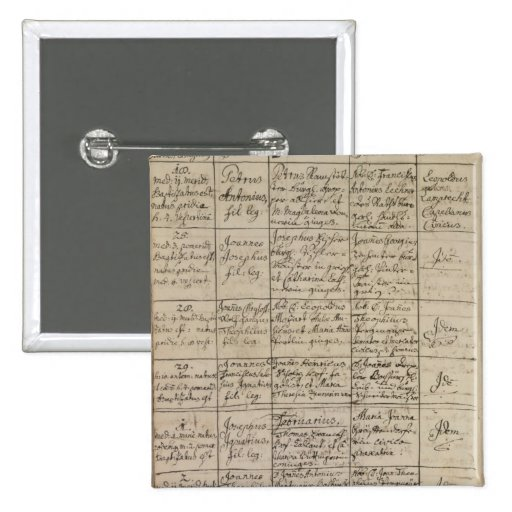 Mozart's entry in the baptismal register, 1756 pin