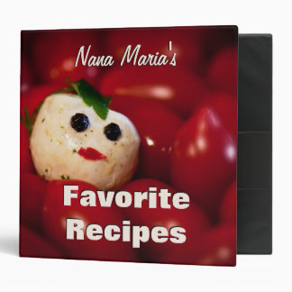 Mozzarella Ball Snowman Custom Recipe Binder