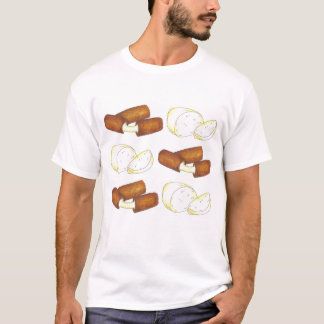 Mozzarella Cheese and Sticks Food Foodie Tee