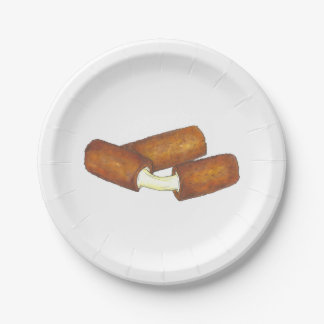 Mozzarella Cheese Sticks Junk Food Foodie Plates