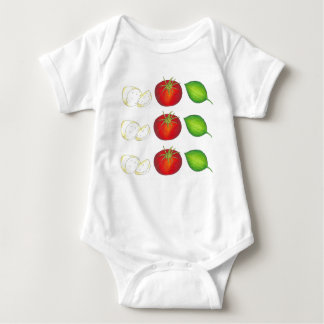 Mozzarella Tomato Basil Italian Food Cooking Baby Bodysuit