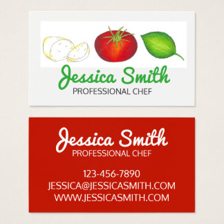 Mozzarella Tomato Basil Italian Food Cooking Chef Business Card