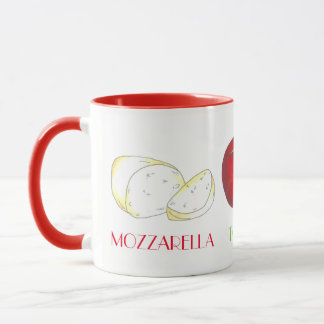 Mozzarella Tomato Basil Italian Food Cooking Chef Mug