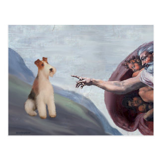 MP-God's Wire Fox Terrier (M) Postcard