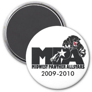 MPA logo black and white magnent 3 Inch Round Magnet