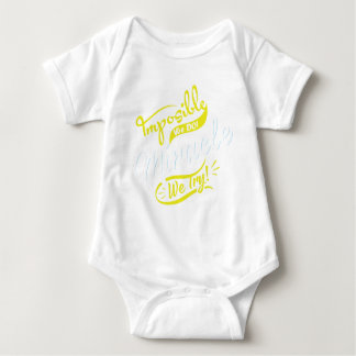 mposible We DO! & Miracle We Try! EST. 2016 iPhone Baby Bodysuit