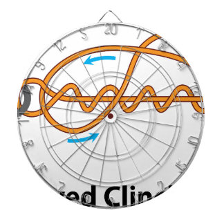 mproved clinch knot vector diagram illustration dartboard