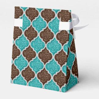 MQF-Sequins-Aqua-Chocolate-White-Tent Favor Box