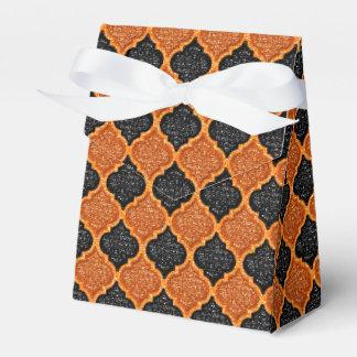 MQF-Sequins-Orange-Black-Tent Favor Box