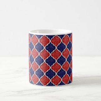 MQF Sequins-Red-White-Dark Blue-11oz Coffee Mug