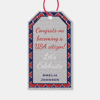 MQF Sequins-RW-DARK BLUE 2-HANG TAGS Pack Of Gift Tags
