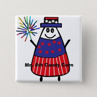 Mr. 4th Candy Corn 2 Inch Square Button