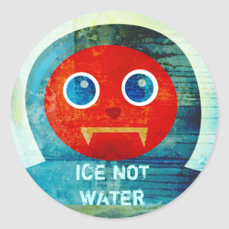 """Mr. Abominable Says, """"My Ice is Melting Up Here!"""" Classic Round Sticker"""