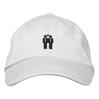 Mr and Mr Gay Pride Love Heart Embroidered Hat