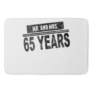 Mr. And Mrs. 65 Years Bath Mat